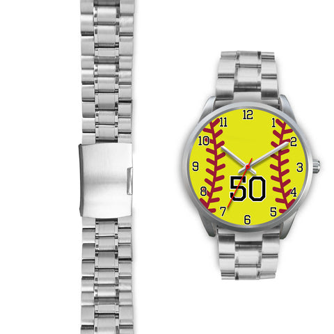 Image of Men's silver softball watch - 50