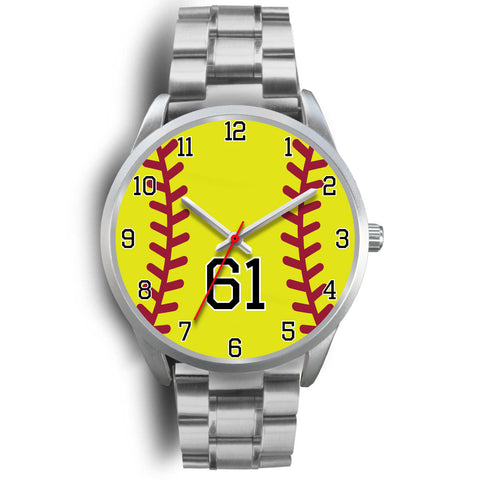 Image of Men's silver softball watch - 61