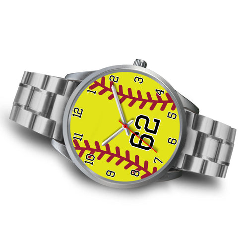 Image of Men's silver softball watch - 62