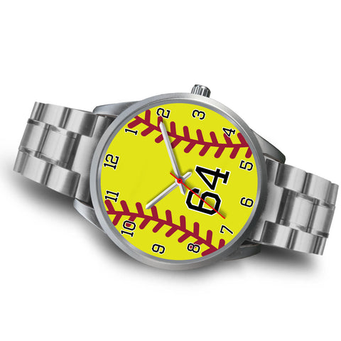 Image of Men's silver softball watch - 64