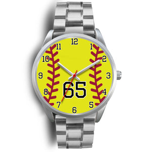 Men's silver softball watch - 65