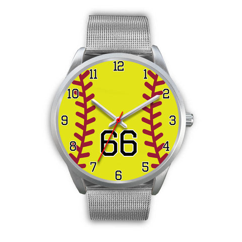 Men's silver softball watch - 66