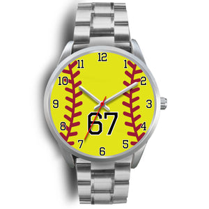 Men's silver softball watch - 67