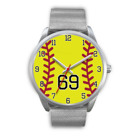 Men's silver softball watch - 69