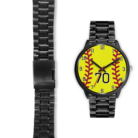 Men's Black Softball Watch - 70