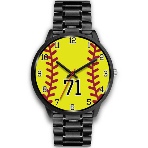 Men's Black Softball Watch - 71