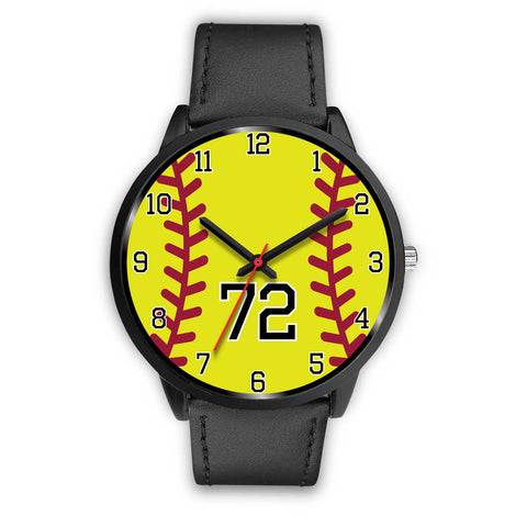 Men's Black Softball Watch - 72