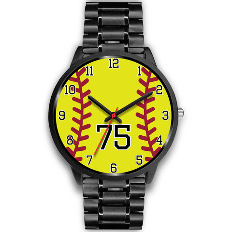 Men's Black Softball Watch - 75