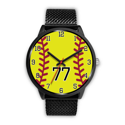 Image of Men's Black Softball Watch - 77