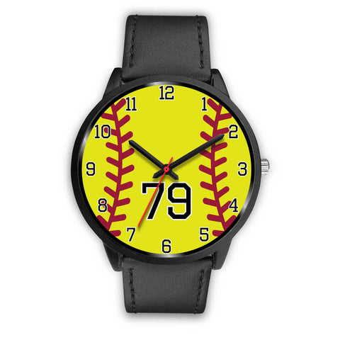 Image of Men's Black Softball Watch - 79