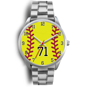 Men's silver softball watch - 71
