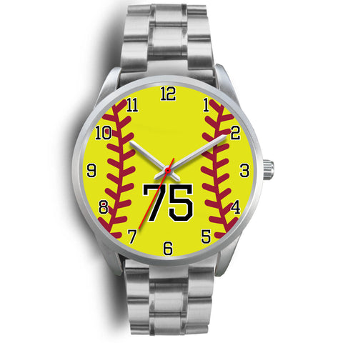 Men's silver softball watch - 75