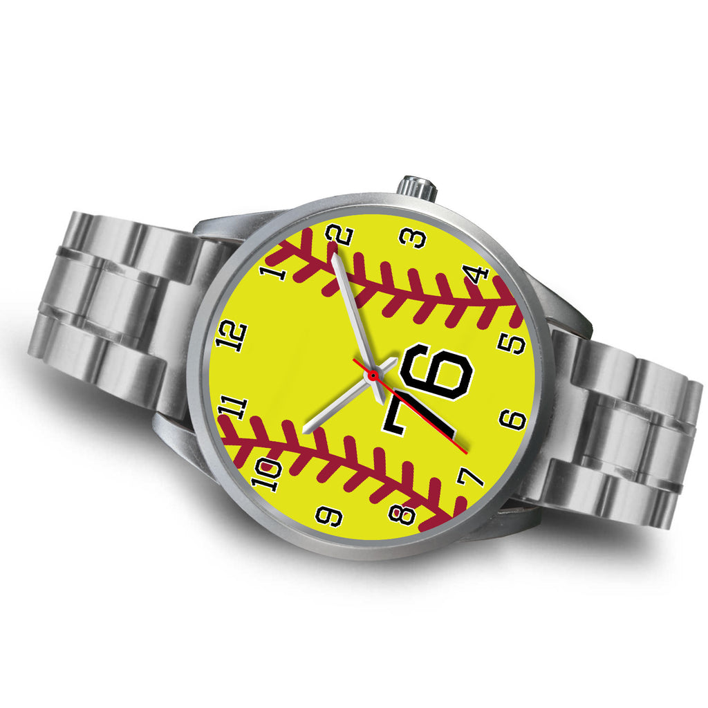Men's silver softball watch - 76