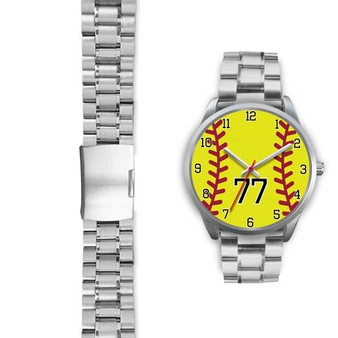 Image of Men's silver softball watch - 77