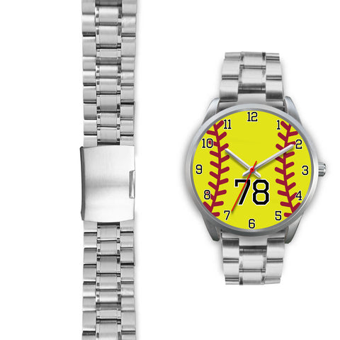 Men's silver softball watch - 78