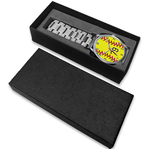 Image of Men's silver softball watch - 79