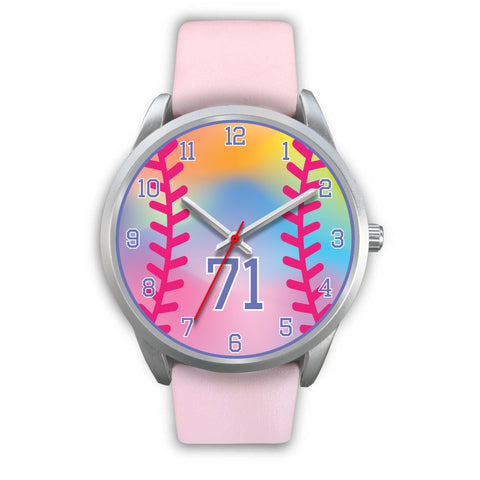 Image of Girl's rainbow softball watch -71