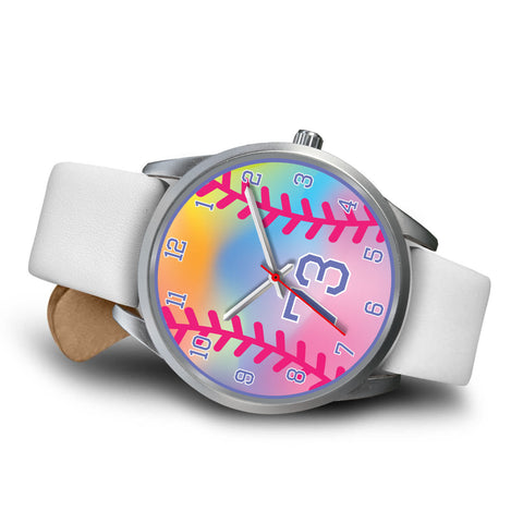 Girl's rainbow softball watch -73
