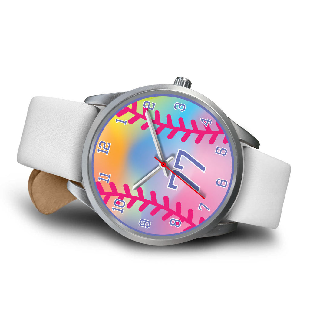 Girl's rainbow softball watch -77