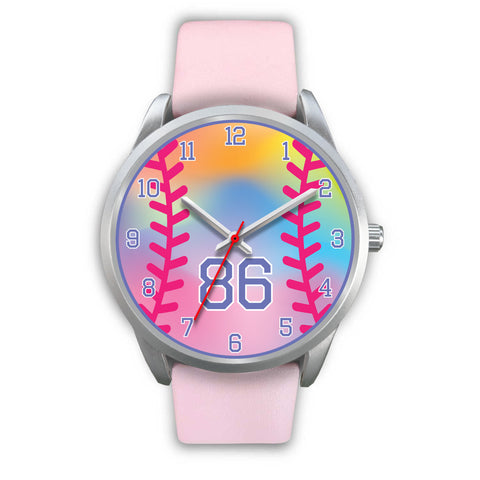 Image of Girl's rainbow softball watch -86