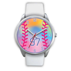 Girl's rainbow softball watch -97