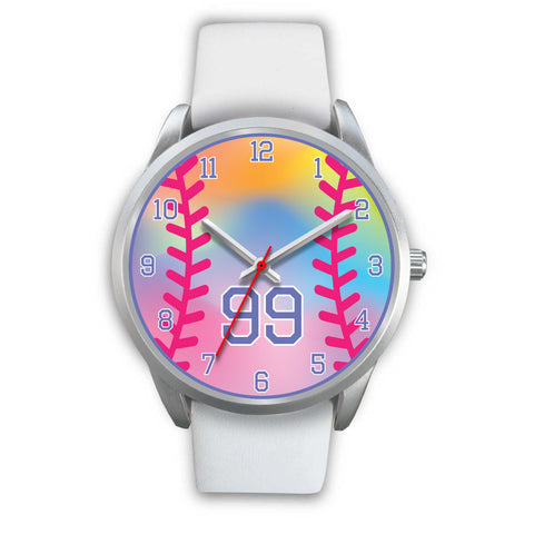 Image of Girl's rainbow softball watch -99