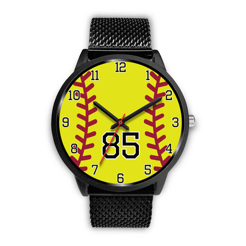 Image of Men's Black Softball Watch - 85