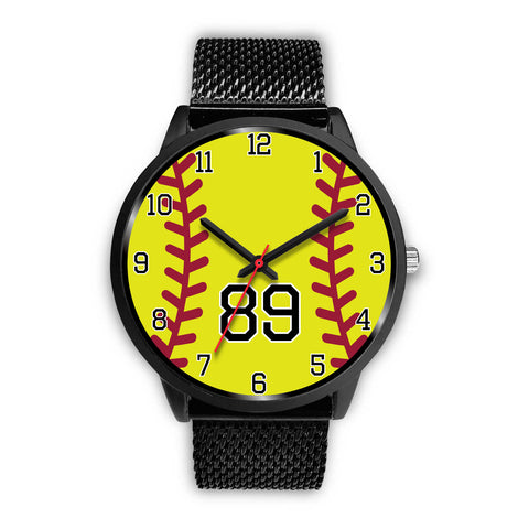 Men's Black Softball Watch - 89