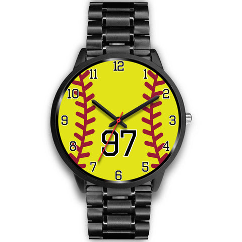 Men's Black Softball Watch - 97