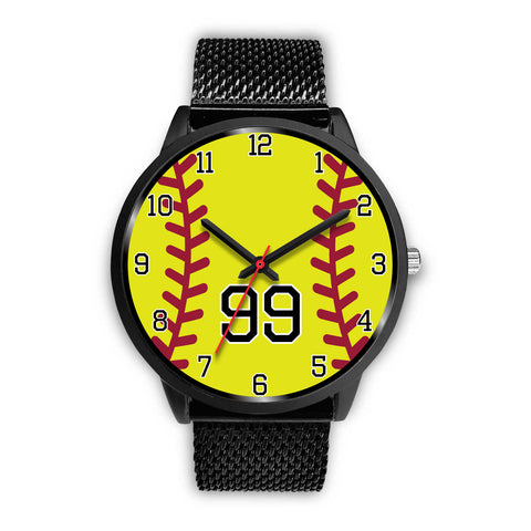 Image of Men's Black Softball Watch - 99