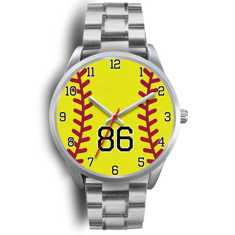 Men's silver softball watch - 86