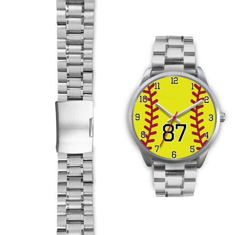 Image of Men's silver softball watch - 87