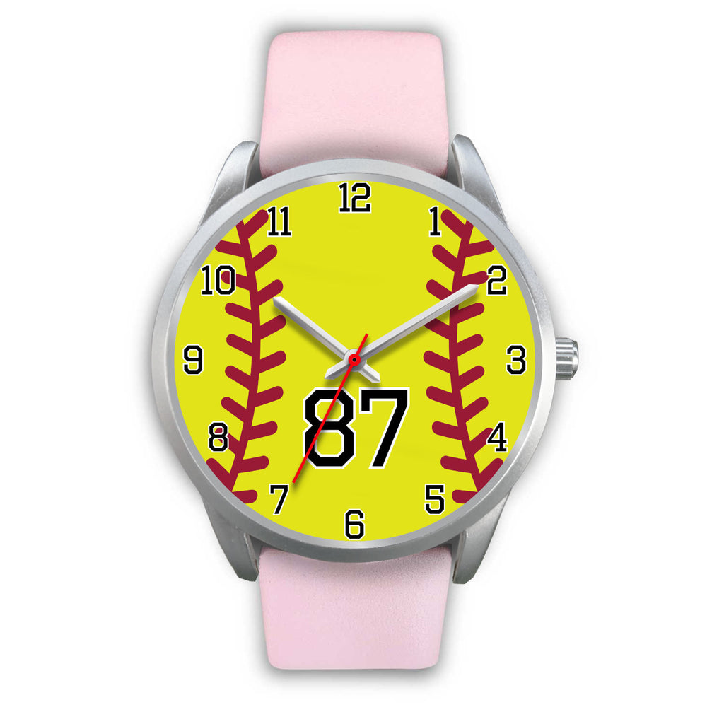 Men's silver softball watch - 87