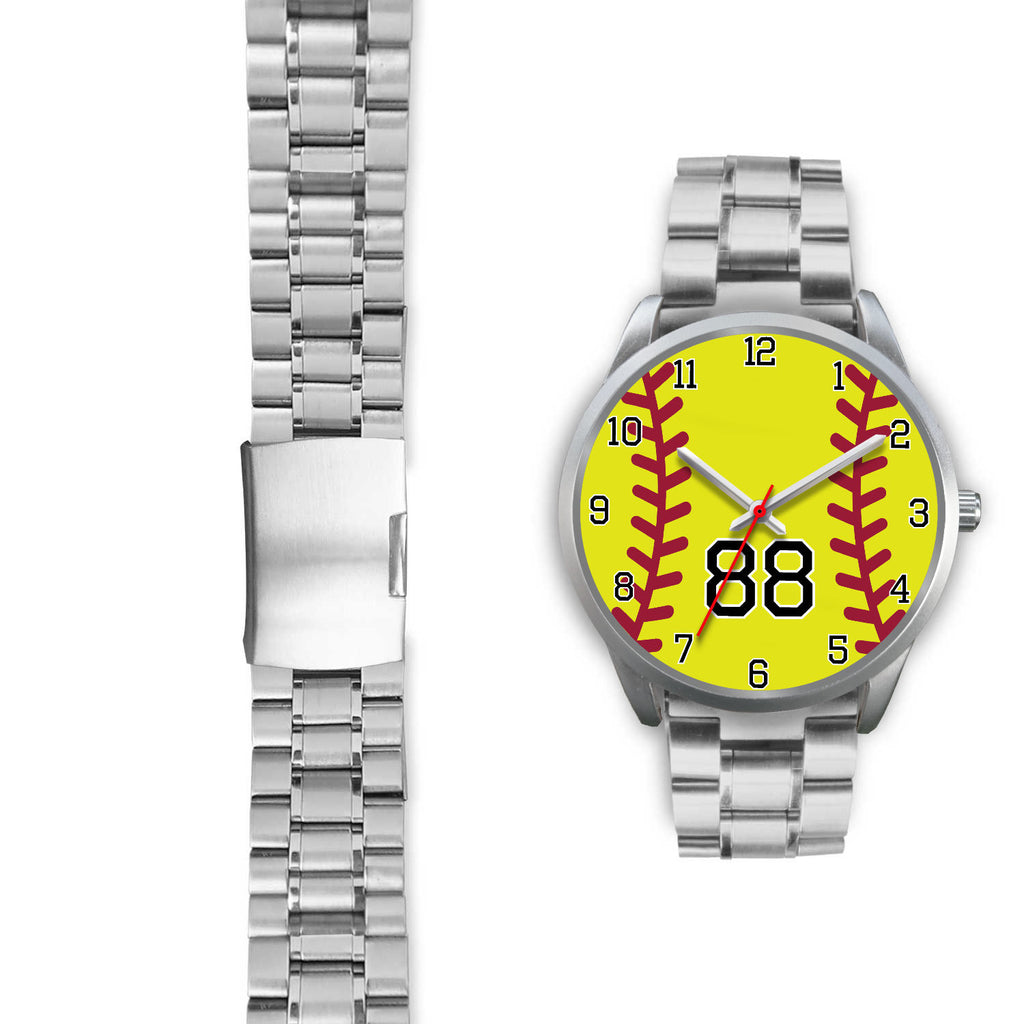 Men's silver softball watch - 88