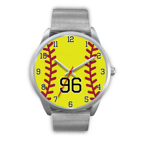Men's silver softball watch - 96