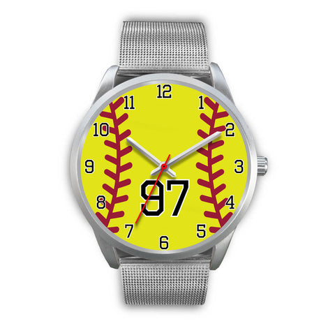 Men's silver softball watch - 97