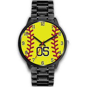 Women's Black Softball Watch -05