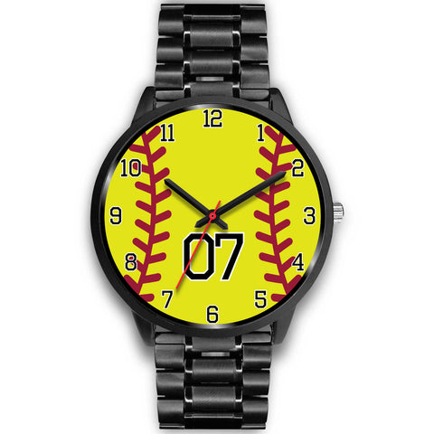 Image of Women's Black Softball Watch -07