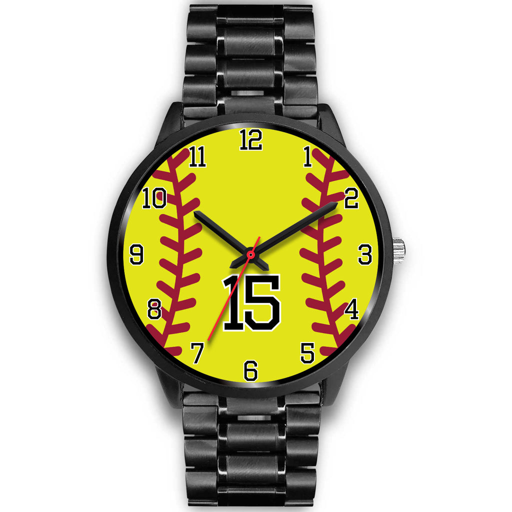 Women's Black Softball Watch -15