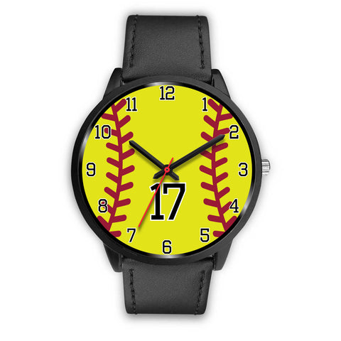 Image of Women's Black Softball Watch -17