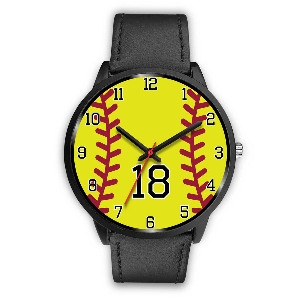 Women's Black Softball Watch -18