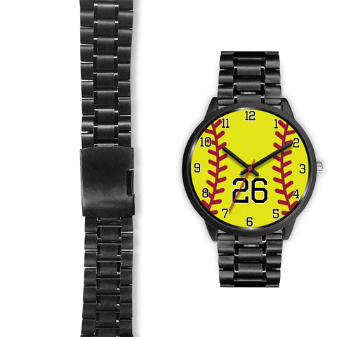Image of Women's Black Softball Watch -26