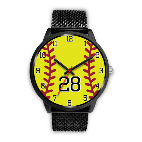 Image of Women's Black Softball Watch -28