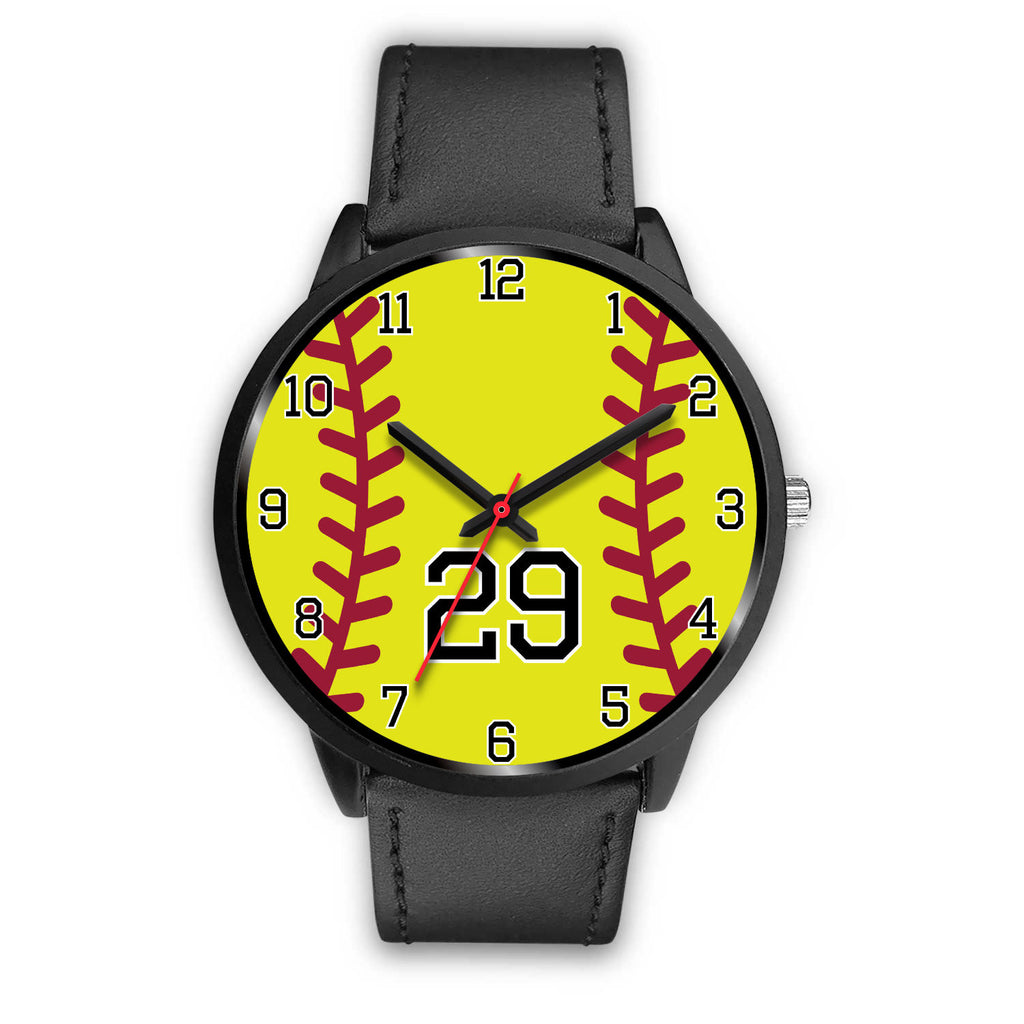 Women's Black Softball Watch -29