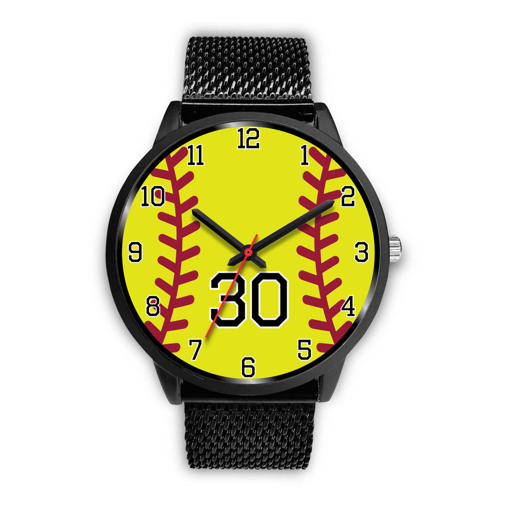 Women's Black Softball Watch -30