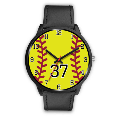 Image of Women's Black Softball Watch -37