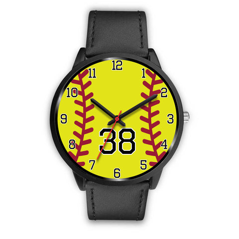 Women's Black Softball Watch -38