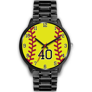 Women's Black Softball Watch -40
