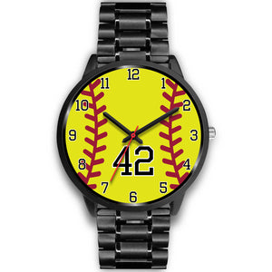 Women's Black Softball Watch -42