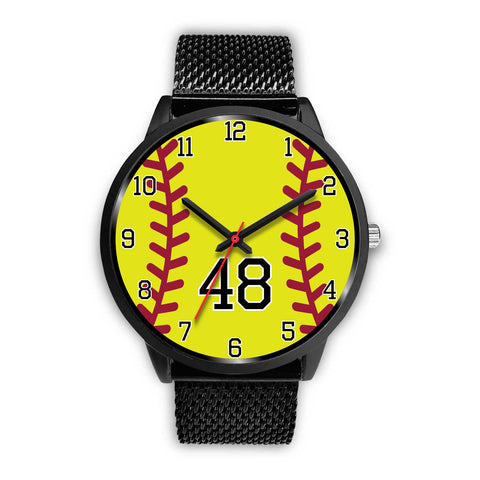 Women's Black Softball Watch -48